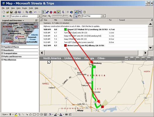 Mapped Route Point of Sale Software