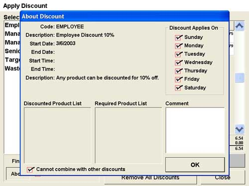About Order Discount Point of Sale Software