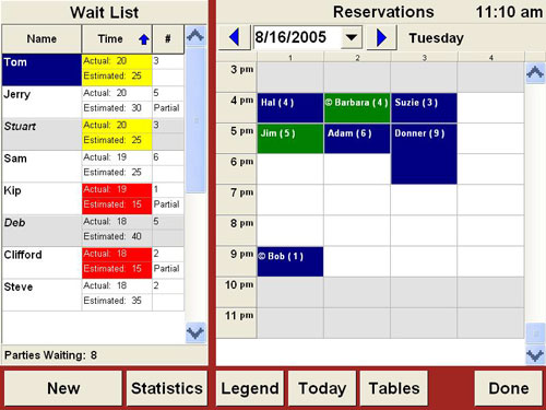 Waitlist and Reservations Point of Sale Software